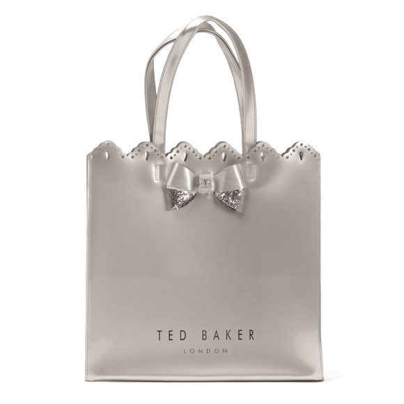 Ted Baker Womens Silver Belacon Scalloped Micro Bow Large Icon Bag main image