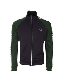 Fred Perry Sportswear Mens Blue Colour Block Tape Track Top