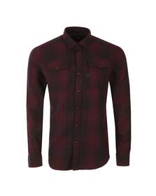 G-Star Mens Red Landoh L/S Check Shirt