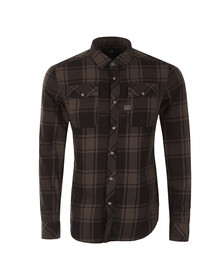 G-Star Mens Black Landoh L/S Check Shirt