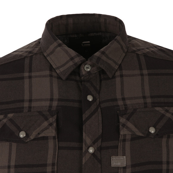 G-Star Mens Black Landoh L/S Check Shirt main image