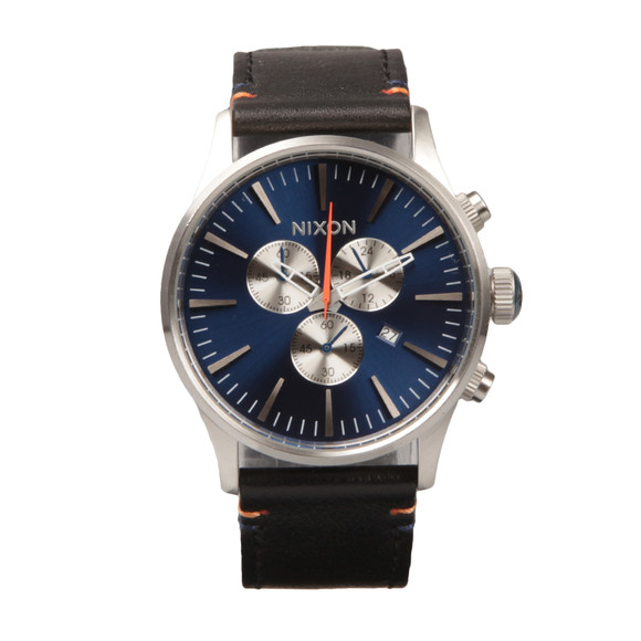Nixon Mens Blue Sentry Chrono Leather Watch main image