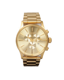 Nixon Mens Gold Sentry Chrono Watch