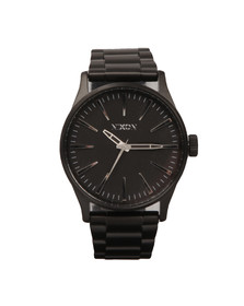 Nixon Mens Black Sentry SS Watch