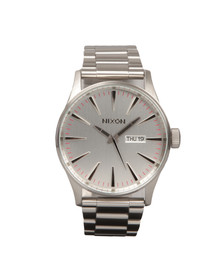 Nixon Mens Silver Sentry SS Watch