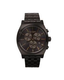 Nixon Mens Black Time Teller Chrono Watch