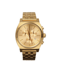 Nixon Mens Gold Time Teller Chrono Watch