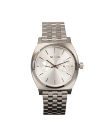 Nixon Mens Silver Time Teller Deluxe Watch