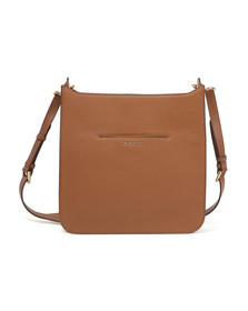 Michael Kors Womens Brown Sullivan Large Messenger Bag