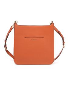 Michael Kors Womens Orange Sullivan Large Messenger Bag