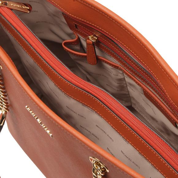 Michael Kors Womens Orange Jet Set Travel Chain Tote Bag main image