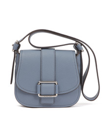 Michael Kors Womens Blue Maxine Mid Saddle Bag