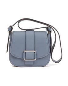 Michael Kors Womens Blue Maxine Mid Saddle Bag