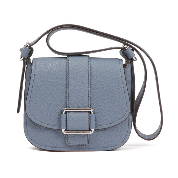 Michael Kors Womens Blue Maxine Mid Saddle Bag main image