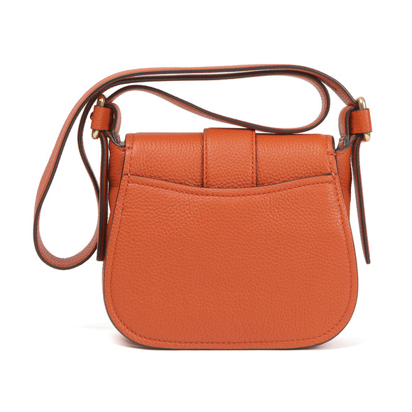 Michael Kors Womens Orange Maxine Mid Saddle Bag main image