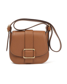 Michael Kors Womens Brown Maxine Mid Saddle Bag