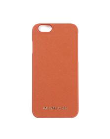 Michael Kors Womens Orange Saffiano iPhone 6 Cover