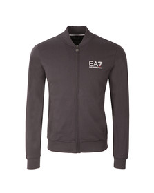EA7 Emporio Armani Mens Grey Small Logo Full Zip Sweat