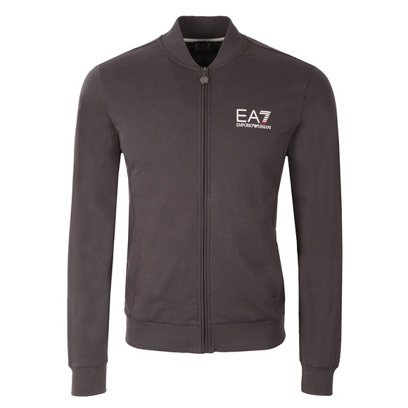 EA7 Emporio Armani Mens Grey Small Logo Full Zip Sweat main image