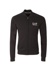 EA7 Emporio Armani Mens Blue Small Logo Full Zip Sweat