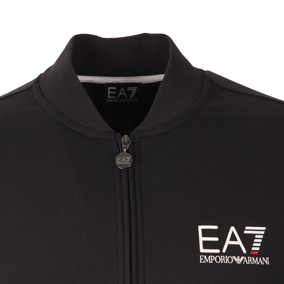 EA7 Emporio Armani Mens Blue Small Logo Full Zip Sweat main image