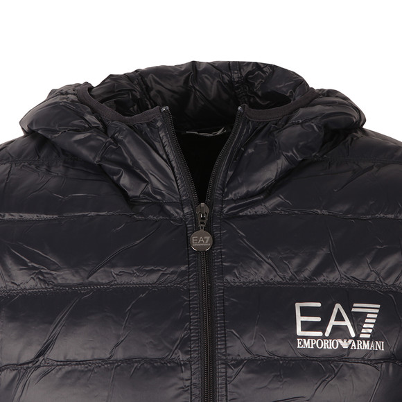EA7 Emporio Armani Mens Blue Train Core ID Light Down Jacket main image