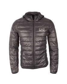 EA7 Emporio Armani Mens Grey Train Core ID Light Down Jacket