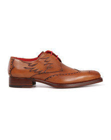 Jeffery West Mens Brown Dexter Flame Shoe