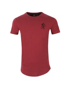 Gym king Mens Red Core Long Line Tee