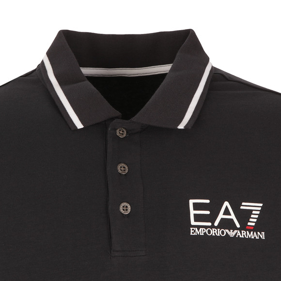 EA7 Emporio Armani Mens Blue Tipped Polo Shirt main image