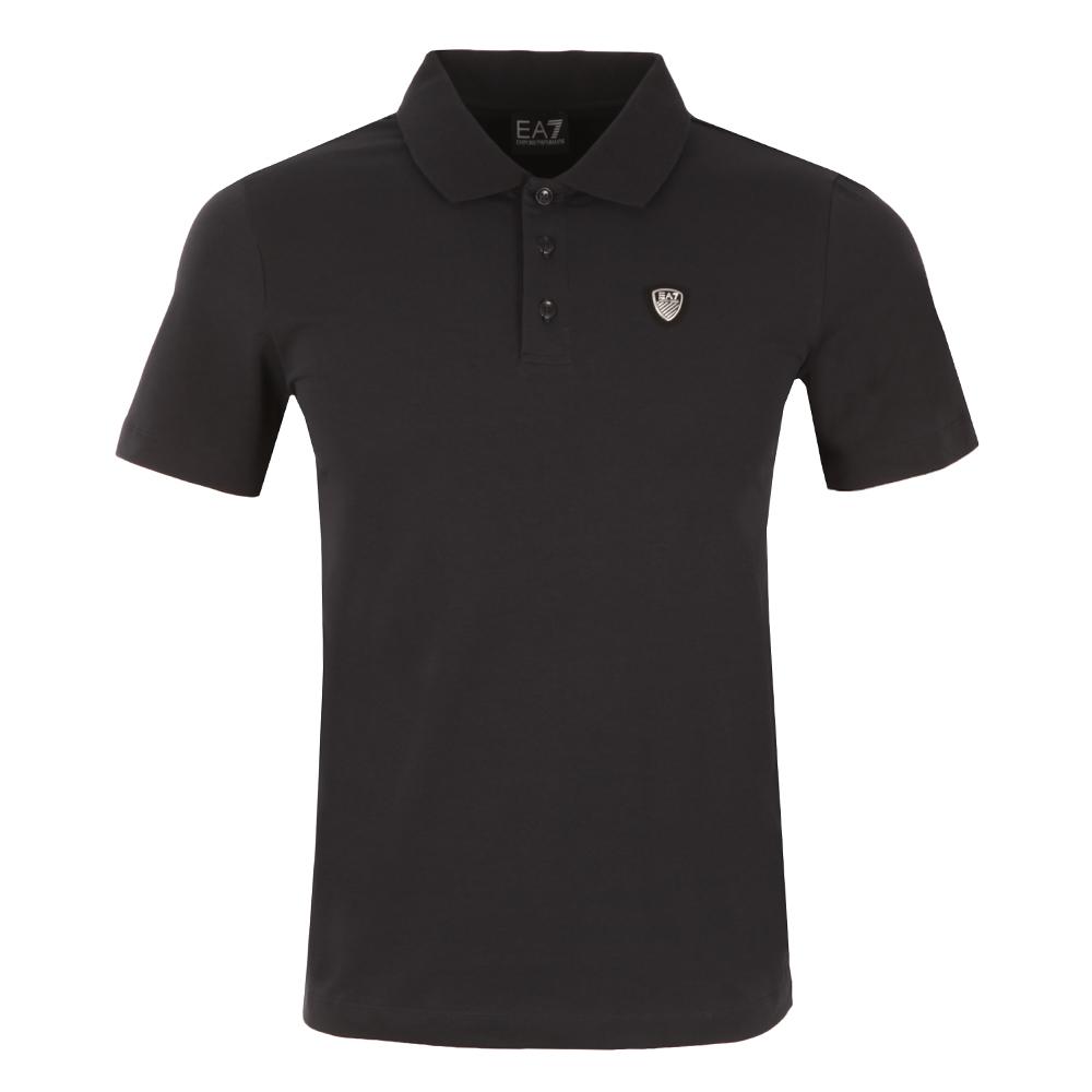 3d9d8a96 EA7 Emporio Armani Small Shield Logo Polo Shirt | Oxygen Clothing