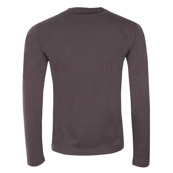 EA7 Emporio Armani Mens Grey Small Shield Long Sleeve T Shirt main image