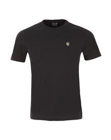 EA7 Emporio Armani Mens Blue Small Shield Logo T Shirt
