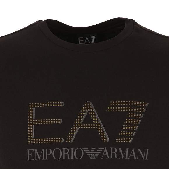 EA7 Emporio Armani Mens Black Large Dot Logo T Shirt main image