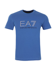 EA7 Emporio Armani Mens Blue Large Dot Logo T Shirt