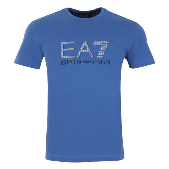 EA7 Emporio Armani Mens Blue Large Dot Logo T Shirt main image