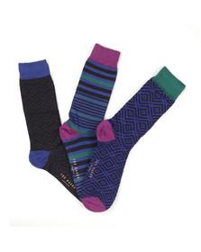 Ted Baker Mens Multicoloured 3 Pack Sock Gift Set