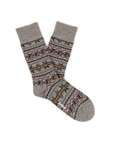 Barbour Lifestyle Mens Grey Castleside Sock