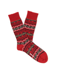 Barbour Lifestyle Mens Red Castleside Sock
