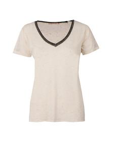 Maison Scotch Womens Off-White Deep V Neck T Shirt