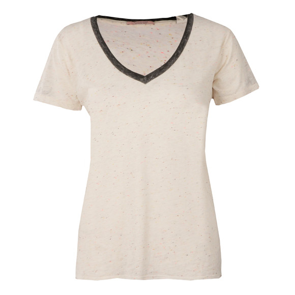 Maison Scotch Womens Off-White Deep V Neck T Shirt main image
