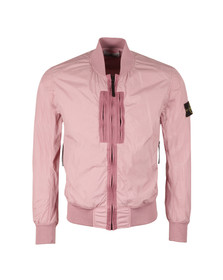 Stone Island Mens Pink Garment Dyed Crinkle Reps Bomber