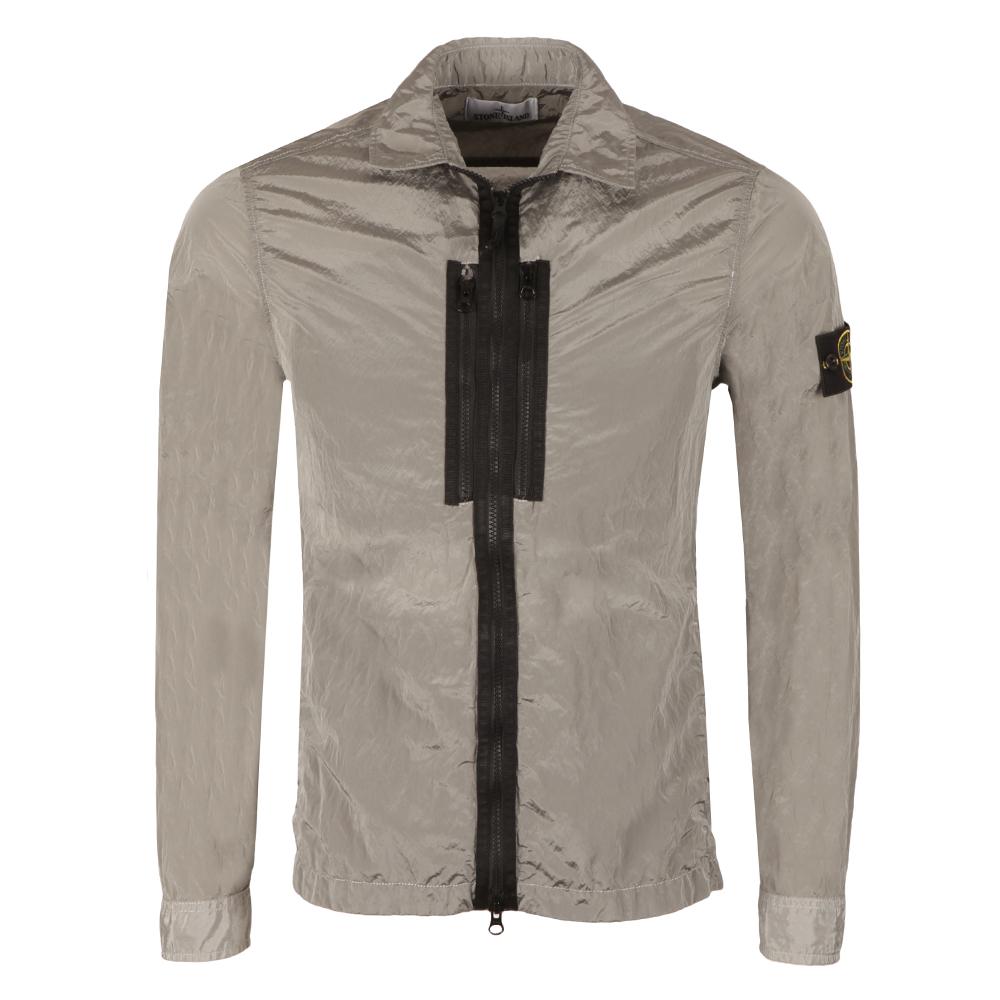 Crinkle Zip Overshirt main image