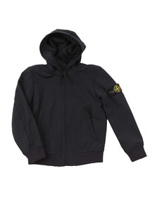 Stone Island Junior  Boys Blue Light Hooded Soft Shell Jacket