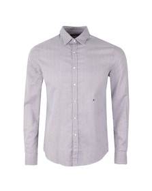 Replay Mens Blue L/S Pattern Print Shirt