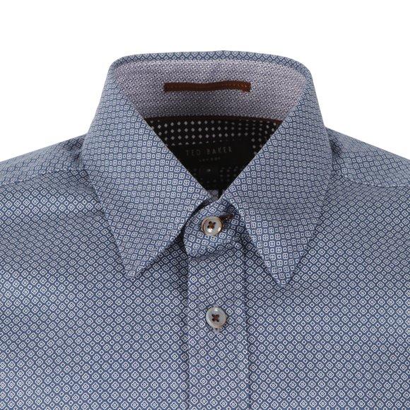 Ted Baker Mens Blue Polserf L/S Printed Geo Shirt main image