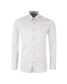 Ted Baker Mens White Polserf L/S Printed Geo Shirt
