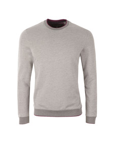 Ted Baker Mens Grey Jax L/S Crew Neck Sweat