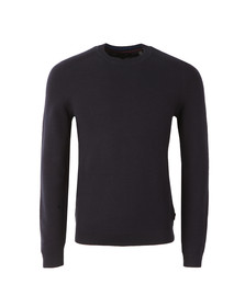 Ted Baker Mens Blue L/S Stitch Detail Jumper