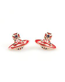 Vivienne Westwood Womens Gold Jack Enamel Earrings